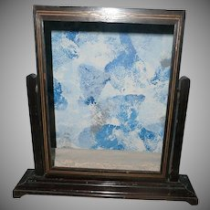 Vintage wood Picture Frame swings