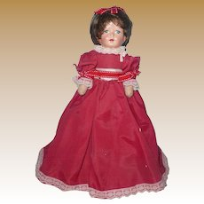 "Primitive 12"" Girl Doll in Red"