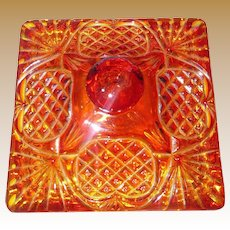 Vintage Indiana Glass Square Dish