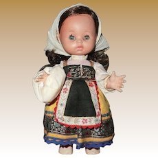 "Vintage 12"" Spanish Peasant Doll"