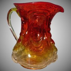 Amerina  Glass Pitcher L.E. Smith Glass Company