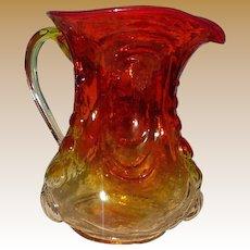 Amerina  Glass Pitcher L.E. Smith Glass Company