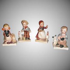 Nikoniko Import, Set of Four Farm Children