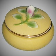 I. Godinger & Co. Vintage Yellow Powder Box