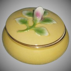 I. Godinger & Co. Vintage Yellow Powder Box