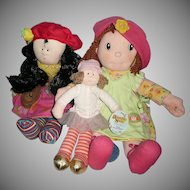 Lot of Three Huggable Dolls *Discontinued
