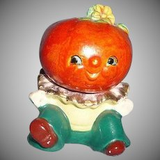 Cute Pumpkin Head Salt and Pepper Shaker
