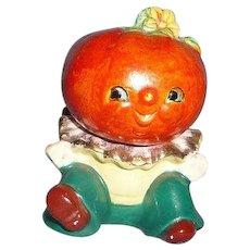 Cute Pumpkin Head Salt and Pepper Shaker