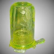 Candle Holder Uranium Glass