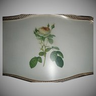 Vintage WOOMATE  Yellow Rose  Serving Tray