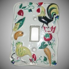 Vintage 1952 Electrical Plate Roosters/Farm