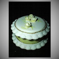 Lefton Yellow Rose  Birthday Cake Round Box