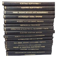 Vintage Set of 42 Electrical Diesel Mechanical Textbooks 1930's International Made in Great Britain