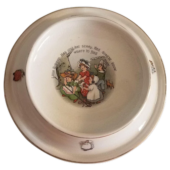 Antique Porcelain Royal Baby Childs Plate Dish