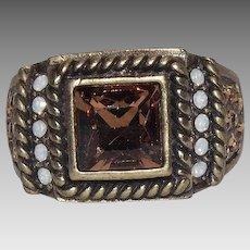 Heidi Daus Timeless Beauty Topaz Colored Stone Ring