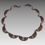 Vintage Napier Sterling Silver Scalloped Links Necklace