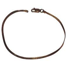 Great 14 Kt Yellow Gold Herringbone Bracelet