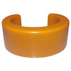 Thick & Heavy Butterscotch Bakelite Cuff Bracelet