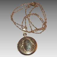 Pretty Gold Filled Locket Pendant & Chain - Ready For Your Monogram