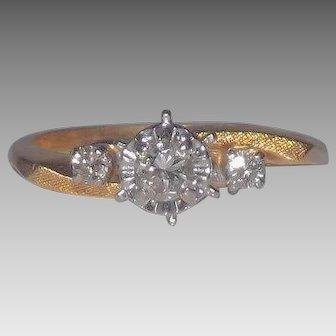 14 Kt Yellow Gold Diamond  Engagement ~ Wedding ~ Promise Ring
