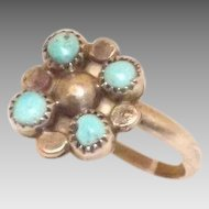 Sweet Sterling Silver and Turquoise Ring