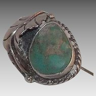 Wonderful Sterling Silver And Turquoise Stick Pin