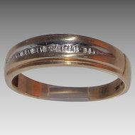 10 kt Yellow Gold and Diamond Ring Band