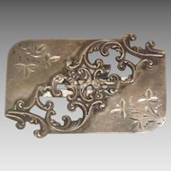Gorgeous Cut Out Pattern Sterling Silver Ladies Belt Buckle