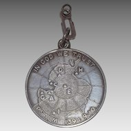 Great United States navy Operation Deep Freeze II Antarctica Sterling Silver Medal 1957 -  58