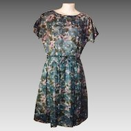 Pretty Vintage 1950's Cohen Bros. Style Flower Print Party Dress