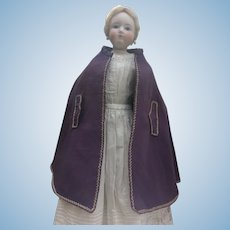 "Lovely summer cape for 22"" French fashion doll"