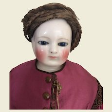 Original real hair French fashion doll wig