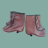 Artist leather boots for French Fashion doll