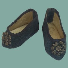"""Tiny heeled shoes for 13"""" French fashion doll"""