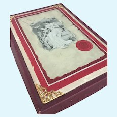 Antique box for presentation doll items