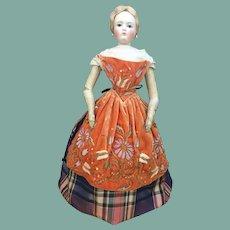 "Rare velvet apron fir 22"" French fashion doll"