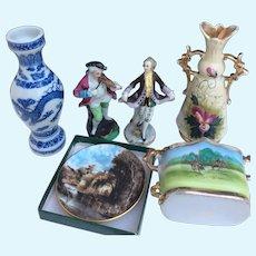 Charming set of antique and vintage porcelain for display