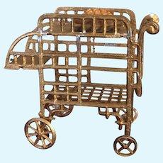 Soft metal Tea Trolley for dollhouse