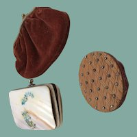 Three charming tiny purses for fashion dolls