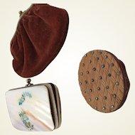 Three charming tiny purses for fashion dolls