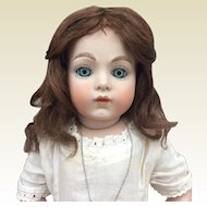 Antique chestnut human hair bebe wig