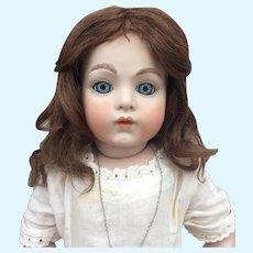 Antique chestnut human hair bebe wig