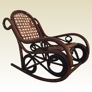Charming vintage rocking chair for doll