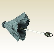 Old black taffeta umbrella