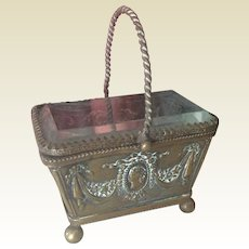 Lovely embossed metal basket