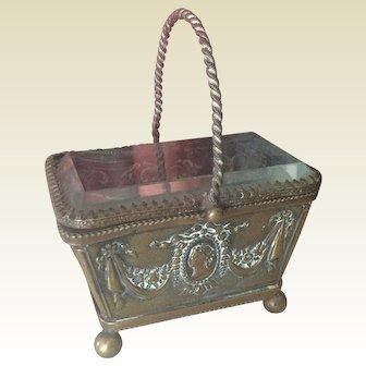 Lovely embossed metal basket