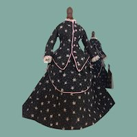 "Lovely Promenade  costume for 13"" French Fashion doll"