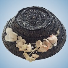 Vintage straw hat for your small bebe