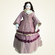 Elegant early walking costume for Huret or French Fashion doll