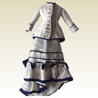"Fantastic original costume for 13"" French Fashion doll"